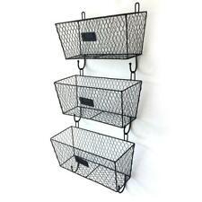 3 Tier Kitchen Bathroom Shelf Rack Organizer Storage Holder Wall Mounted Basket