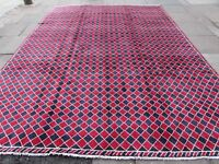 Old Traditional Hand Made Vintage Oriental Red Wool Gabbe Carpet 383x288cm