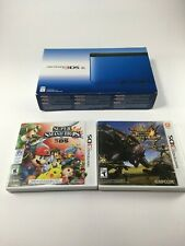 Nintendo 3DS XL Handheld Console - Blue/Black (SPR-S-BKAB-USZ) With Games