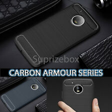 New ShockProof Silicone Carbon Rugged Case Cover for Motorola Moto G5 G5 Plus