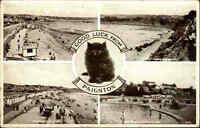 Paignton England AK 1947 Mehrbildkarte Pool Schwimmbad Küste Coast Meer Sea Cat