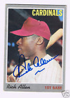 1970 Topps #40 DICK ALLEN autographed card