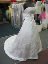 2178 PEARL WHITE w/SILVER ACCENT MORILEE Bridal Gown Dress Size 4 $1200-ORIG