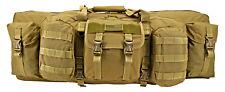 "EastWest Ranger Double Rifle Bag DLX 36"" Tactical Hunting Range Gun Case TAN*"