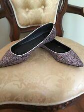 0ab9889f62d9 ASOS 11W Latch Glitter Ballet Flats EUC Silver