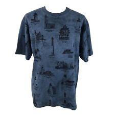 New listing Vintage 90s Light House All Over Print Art Unlimited Blue T Shirt Men's Large L