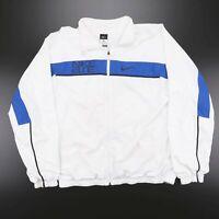 NIKE Elite White Big Logo Full Zip Sports Track Shell Jacket Men's Size XL