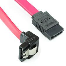 Angled 18-Inch SATA III 6.0 Gbps Cable&Locking Latch 1 x 90-Degree Plug