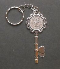 1948 70th birthday lucky Sixpence key Charm keyring a free card gift box wedding