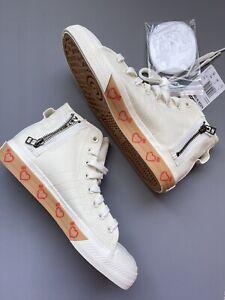 New Adidas Nizza Hi Human Made Owhite HM - FY 5188 Men's Canvas Shoes size 7.5