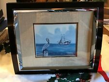 """William Rodgers, Jr. 1980 Pelican  Fishing Vessel Matted Framed 12"""" x 10"""" Frame"""
