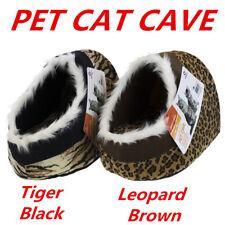 Paws n Claws Plush Pet Cave Animal Print - Brown - Dog, Cat
