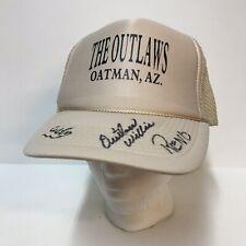 The Outlaws Oatman Arizona Signed Baseball Cap Willie Reno Mesh Trucker Hat Otto