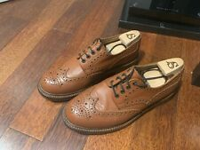 Alfred Sargent 'Appleby' Tan Brown Leather Derby Brogues UK 8 FX