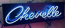 CHEVELLE BY CHEVROLET NEON SIGN / CHEVY NEONS / CHEVELLE SIGNS  *GAS & OIL