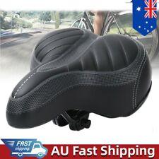2 Pcs Wide Big Bum Bike Bicycle Saddle Seat Extra Comfort Soft Sporty Pad