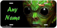 Green Alien Any Name Personalized Novelty Aluminum Car License Plate