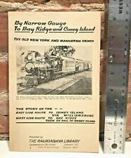 Brooklyn, NY Trains Booklet - By Narrow Gauge to Bay Ridge & Coney Island 1947