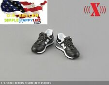"1/6 scale BLACK man sneaker for 12"" figure hot toys phicen Ganghood ❶US SELLER❶"