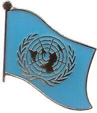 Lot Of 3 United Nation Flag Lapel Pins - Un Flag Pin