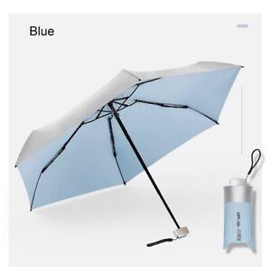 Mini Folding Compact Rain Sun Umbrella UPF 50+ Anti-UV Travel Portable Windproof