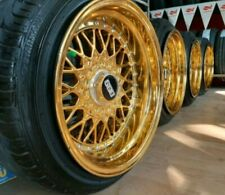 BBS rs2 optique Gold 16 in 4x100 4x108 9j 10j réplique Jantes d'occasion