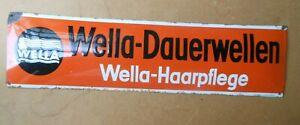 Uraltes  WELLA DAUERWELLEN - Wella Haarpflege 70 x 19 cm mit SIGNATUR