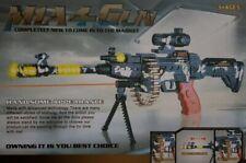 SUBMACHINE GUN MG-42 RIFLE MILITARY GUN ROTATING BULLETS VIBRATION ASSAULT TOY