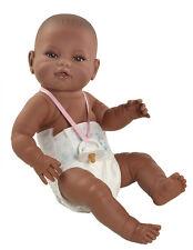 Muñeco bebe recien nacido negrita pañal reborn. Muñeca 42 cm vinilo. En bolsa