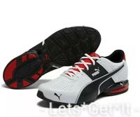 Puma Men's 14 Cell Surin 2 FM Running Shoes White Black / Scarlet Red 18987601