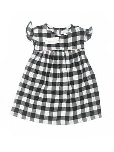 New Baby Toddler Girl Gymboree Buffalo Plaid Flannel Dress Size 12/18 Months