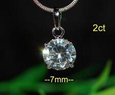 Sterling Silver Very Good Fine Diamond Necklaces & Pendants