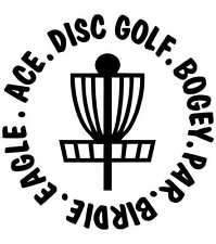 Disc Golf Vinyl Sticker Decal Bogey Par Birdie Eagle Ace