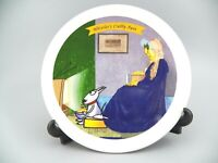 "Hallmark MAXINE "" Whistler's Crabby Aunt "" Plate 7.5"" Dia. Signed J Wagner EUC"