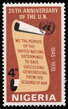 """NIGERIA 241 (SG246) - United Nations 25th Anniversary """"UN Charter"""" (pf62296)"""