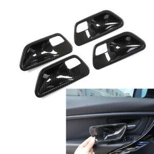 For BMW 3-Series F30 2013-2018 Carbon Fiber Interior Door Handle Bowl Cover Trim