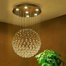 Modern Flush Mount K9 Crystal Rain Drop Chandelier Lighting LED Pendant Lamp TOP
