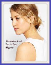 2 x Golden Pearl Hair Clips Hairpin Girls Bridal Bridesmaid Headpiece Barrette