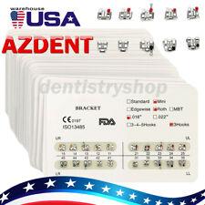 10x Azdent Dental Ortho Brackets Ministandard Mbtroth 022018 Hooks 3 4 5