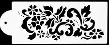 Flowers, Leaves & Swirls Cake Stencil
