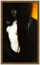 Franz di stucco 34 il peccato tela 42x71 EVA serpente tentatrice morale rimorso