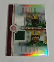 R17,878 - BRETT FAVRE / GREEN - 2005 UD REFLECTIONS - DUAL JERSEY - PACKERS -