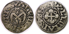 Circa 1200 France Valence Silver Denier Angel Holyland Crusaders