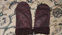 Real Sheepskin Lady Winter Women Mittens Gloves   Warm Mittens Choice Color