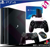 PS4 PLAYSTATION 4 PRO 1TB + 2 MANDOS DUALSHOCK NEGROS CUH7216B OFERTA 100% NUEVA