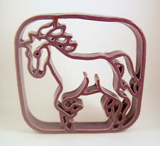 Bay Pottery Running Horse Handmade Trivet Purple Clay Virginia