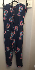 ISANI for Target Jumpsuit Size L Women's Pockets Button  Front Keyhole Back New