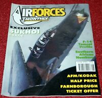 Air Forces Monthly Magazine 1990 August Boeing C-135FR,F-14 Tomcat,Sukhoi Su-22