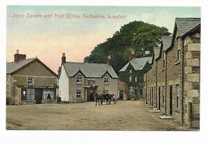 Llanfair-Talhaiarn; Swan Square; Swan Inn and next door Tea Rooms, 1908 Abergele