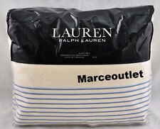Ralph Lauren Josephina Stripe Cotton QUEEN Sheet Set Cream / Blue